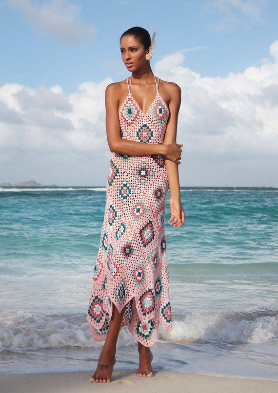 Crochet Beach Dress Crochet Maxikleid Crochet Dress #crochetbeachdress