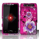Motorola Droid Razr xt912 Accessory - Hot Pink Sakura Design Protective Hard Case Cover for Verizon (Wireless Phone Accessory)  #Techno