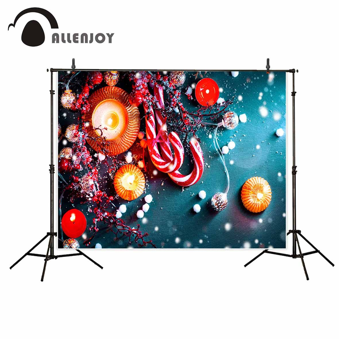 Allenjoy Candy Candle Bunches Balls Christmas Party Decoration Background For Photo Decorations Home