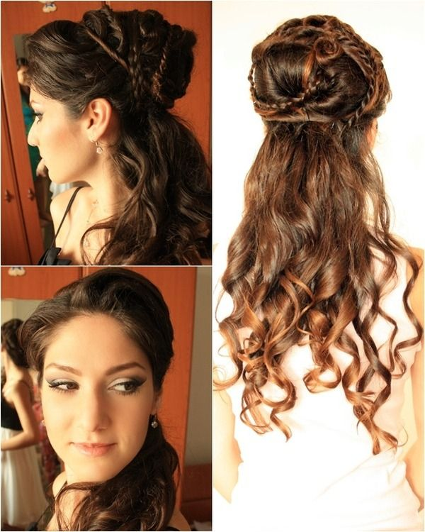 Hairstyle Inspired By Ilithyia Glaber From Spartacus Greek Hair Hair Styles Grecian Hairstyles