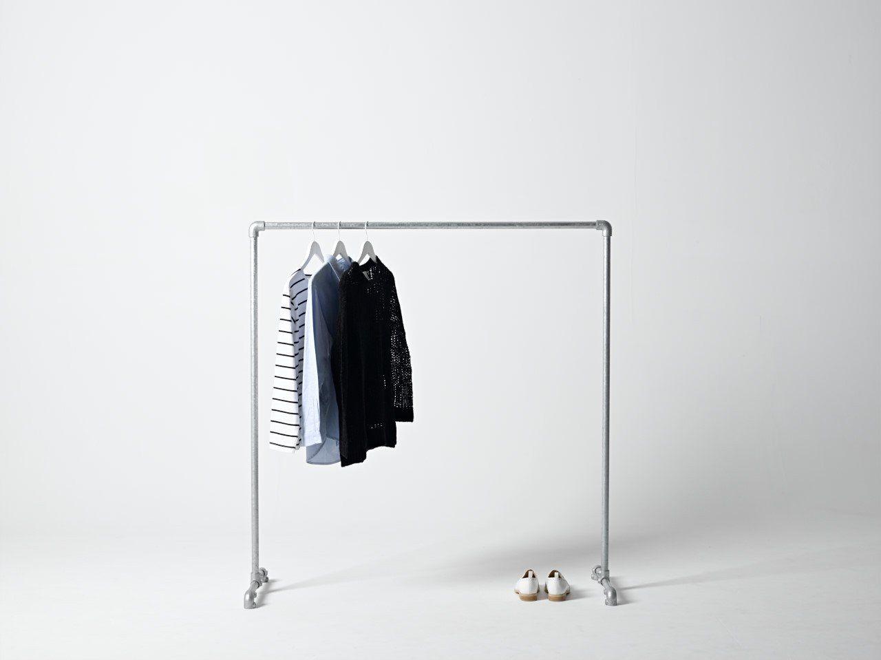 Industrial clothing rack closetsclothing storage pinterest