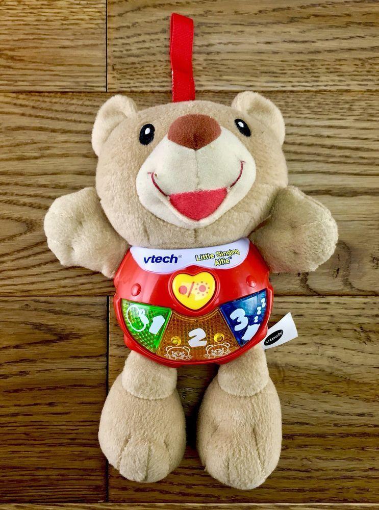 Vtech Baby Little Singing Alfie Soft Plush Cuddly Toy Teddy Bear