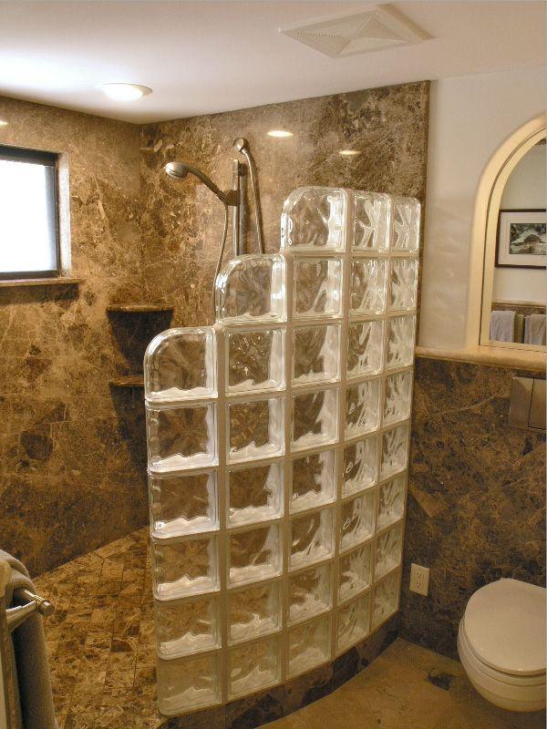glasbausteine f r dusche elegante ausstattung home pinterest badezimmer b der und badideen. Black Bedroom Furniture Sets. Home Design Ideas