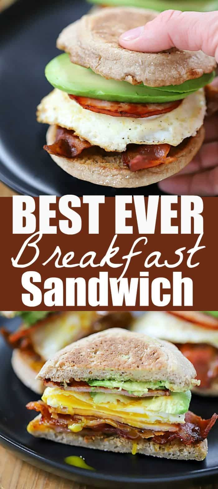Egg, Bacon and Avocado Breakfast Sandwich Start your morning off right with this Egg, Bacon and Avo