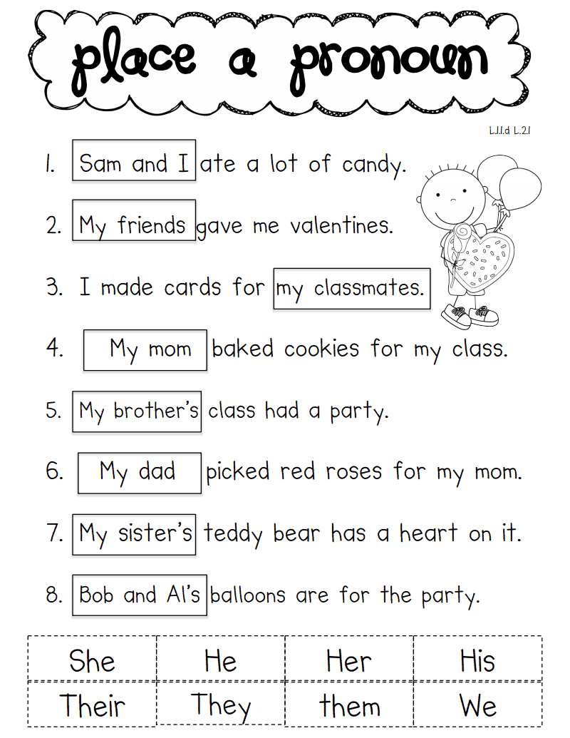 worksheet Pronoun Worksheets 2nd Grade pronoun valentine pdf school ela pinterest worksheets pdf
