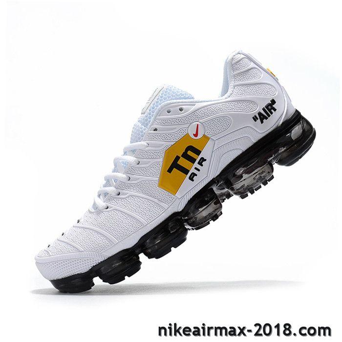 982e38f7de77 Hot Nike Air VaporMax TN KPU Mens Sneaker White Black For Sale ...