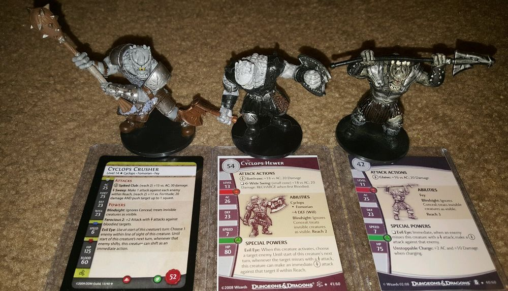 Dungeons and Dragons miniatures 58 pc. lot