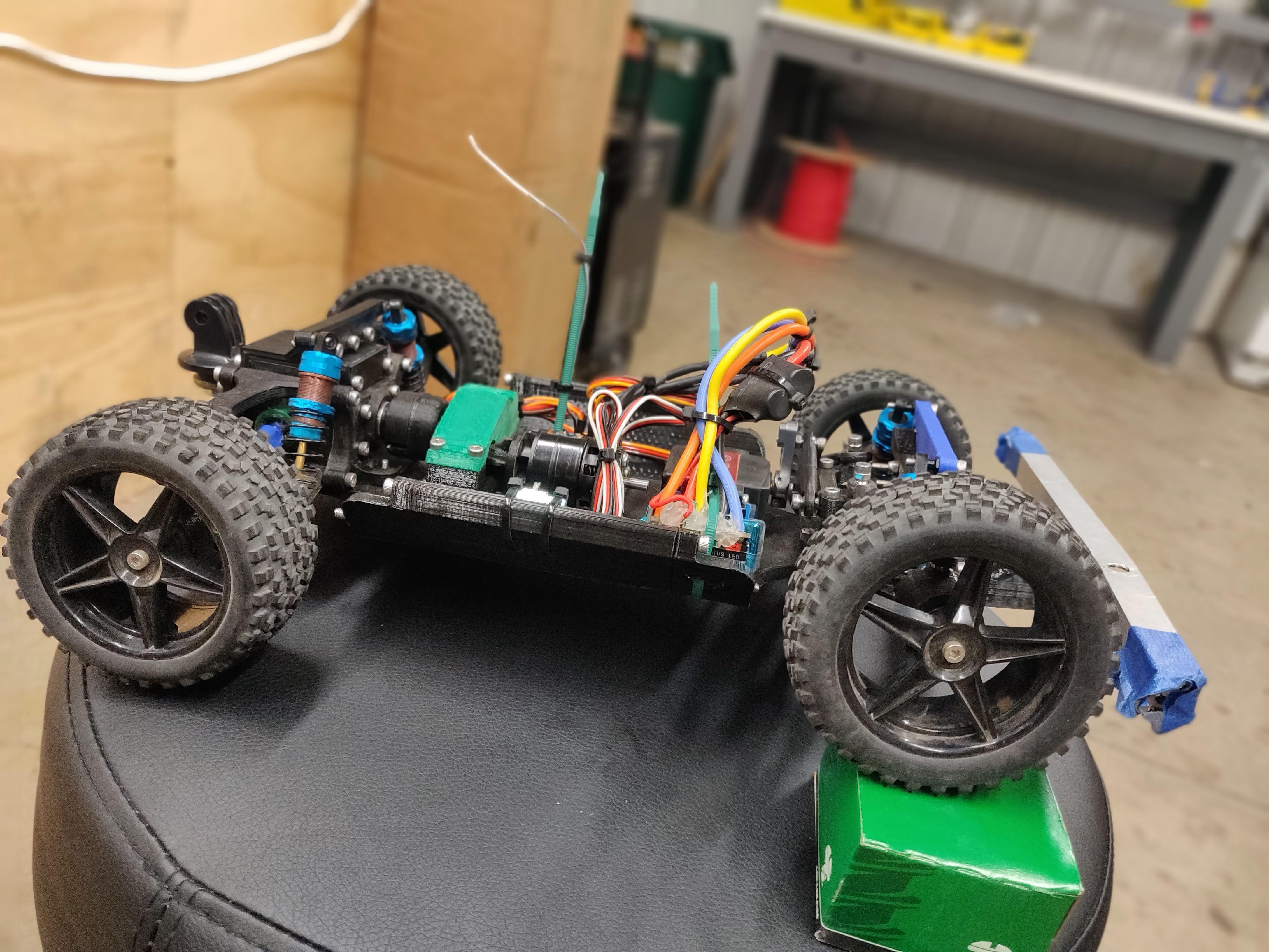 Rc Car I Made With My 3d Printer Super Cool Car 3d Printing Rc Cars