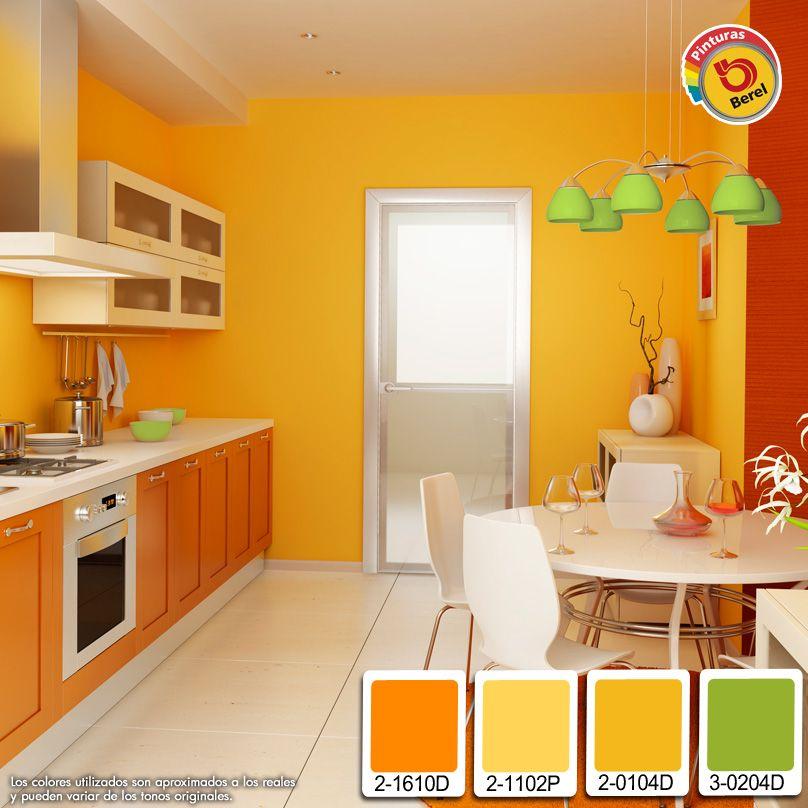 Haz De Tu Cocina Un Lugar Mas Acogedor Con La Combinacion De Colores Calidos Que Tenemos Para Colores Paredes Cocina Decoracion De Cocina Colores De Interiores