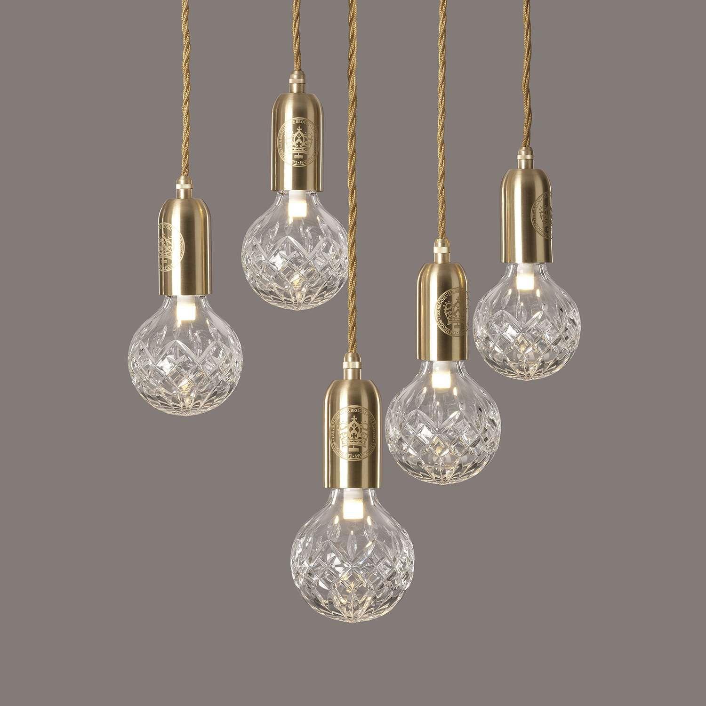Clear Crystal Crystal Pendant Lighting Bathroom Light Fixtures