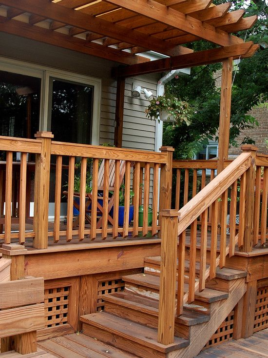 Wood Stair Railing With Simple Crosspiece As Bottom Rail Babazeka