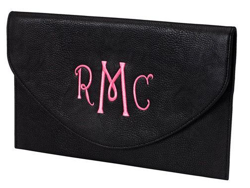 Monogrammed clutch FREE shipping by MegsMonogramsandMore on Etsy, $26.00