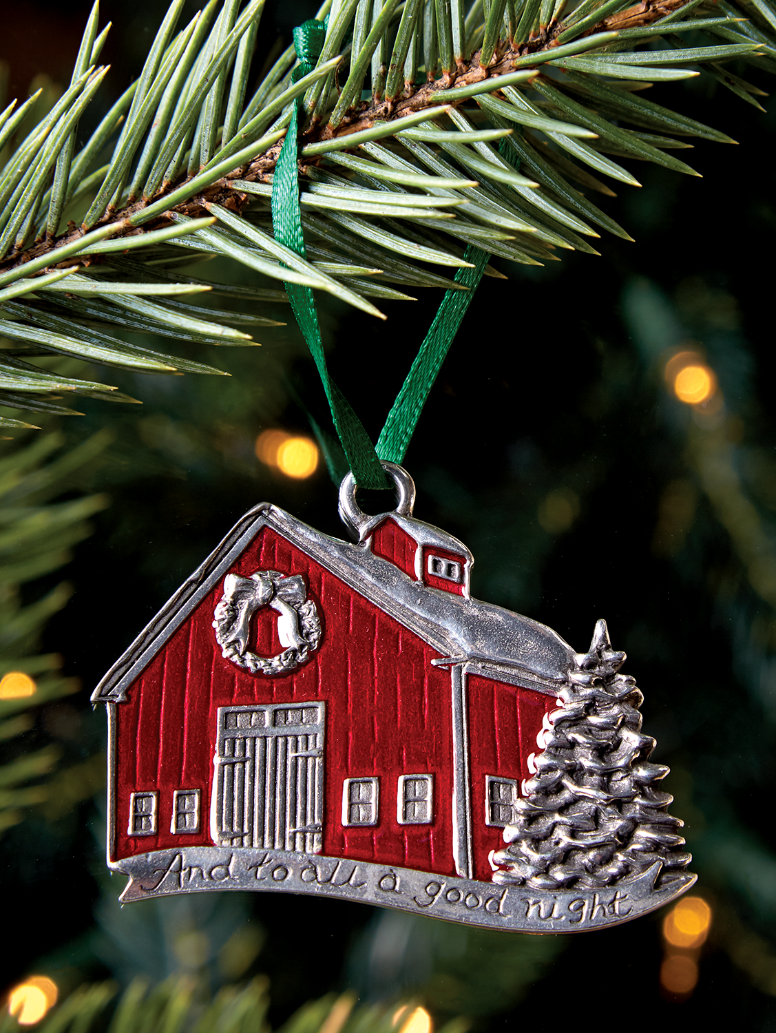 Danforth Pewter Red Barn Ornament | Ornaments, Christmas ...