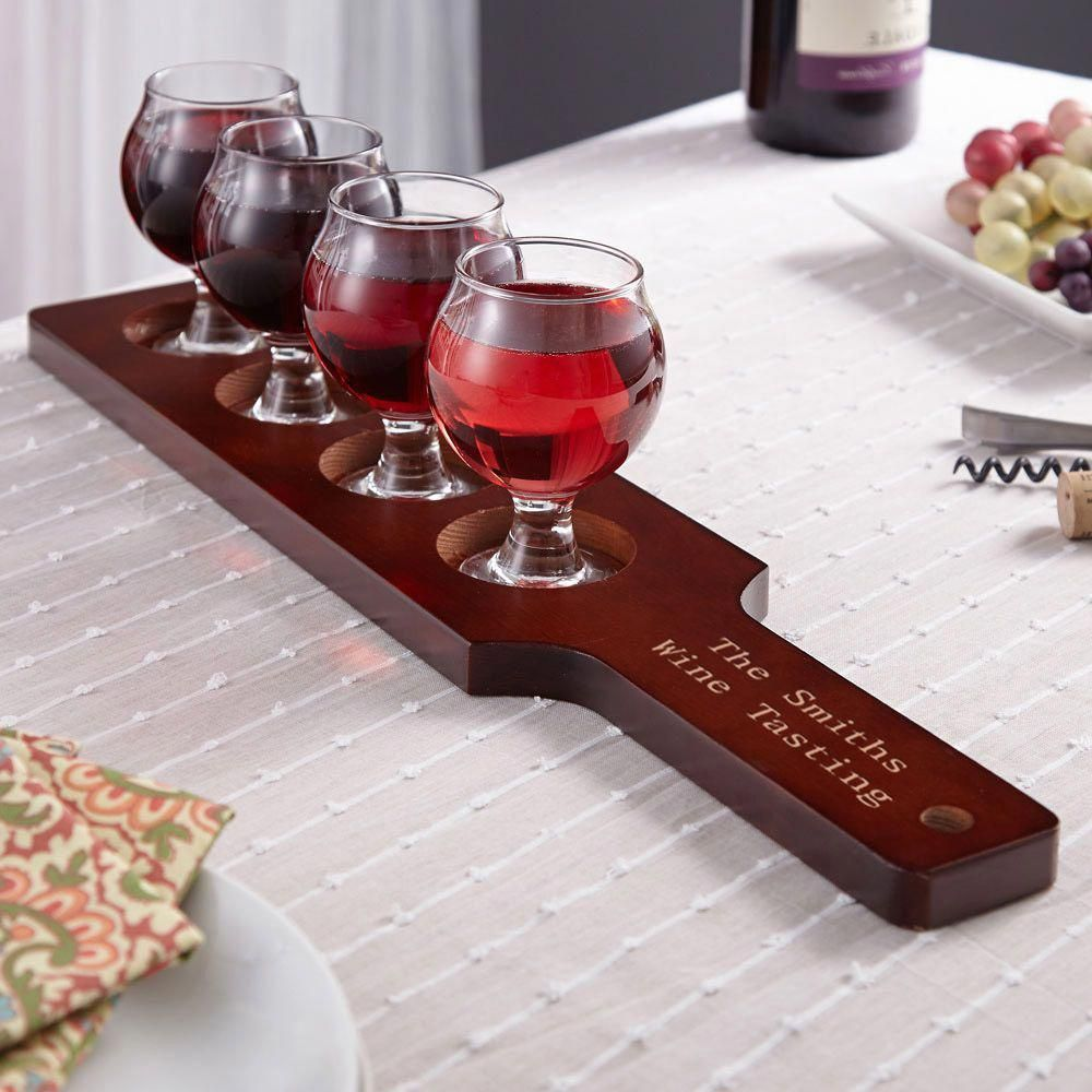 Mission Personalized Wine Flight Set Wine Tasting Party Wine Wine Tasting Glasses