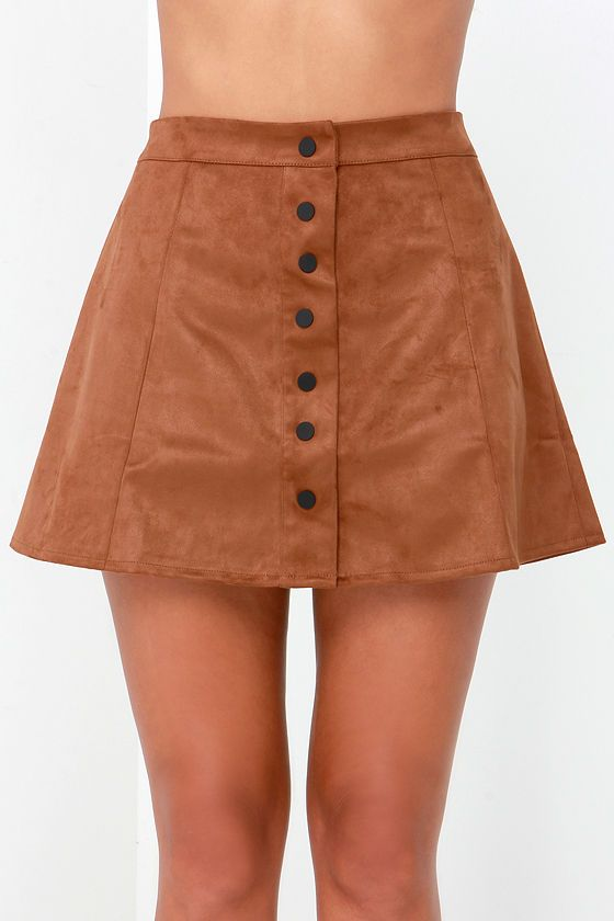 Glamorous Girl About Town Tan Suede A-Line Skirt | Tans, A line ...