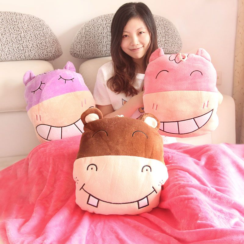 hungry hippo pillow pet