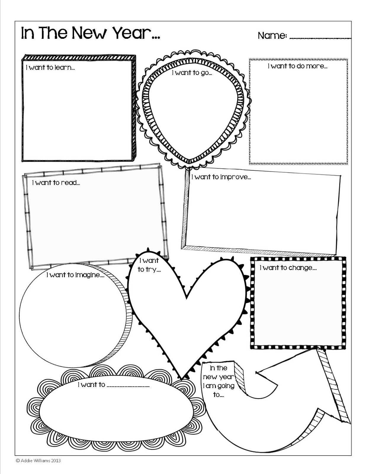 Happy New Year Goal Setting Activity A Fun Free Activity To Start Off The New Year Teaching Activities Goal Setting Activities Student Activities
