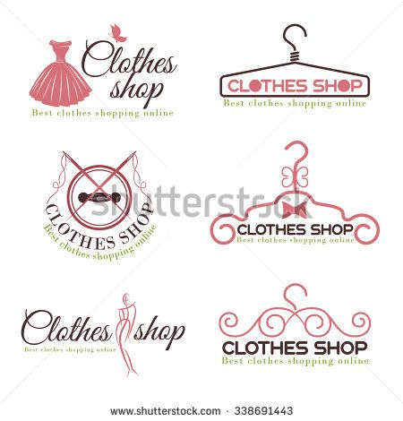 Clothes Shop Fashion Logo Vector Set Design Fashion Logo Design Fashion Logo Shop Logo Design