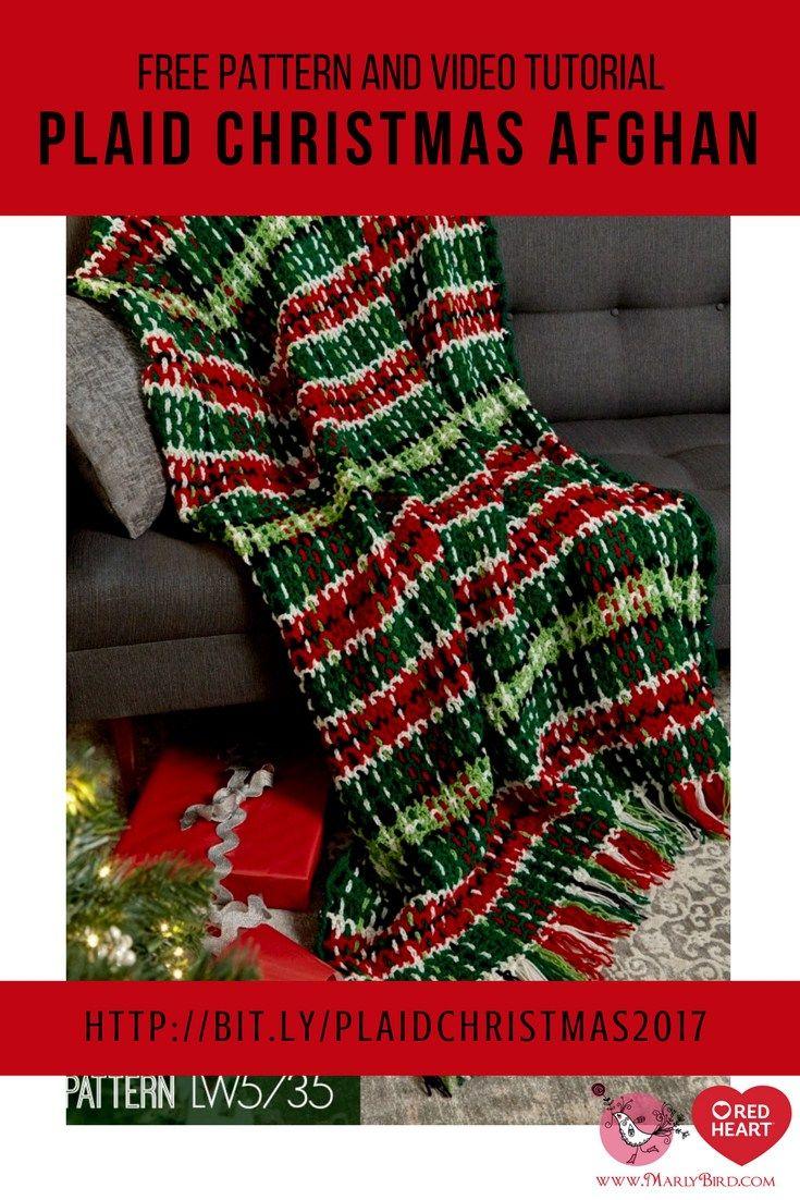 How to Crochet Plaid Christmas Afghan | Crochet | Pinterest