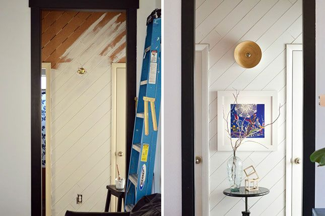 Build your own diagonal plank wall with this tutorial.