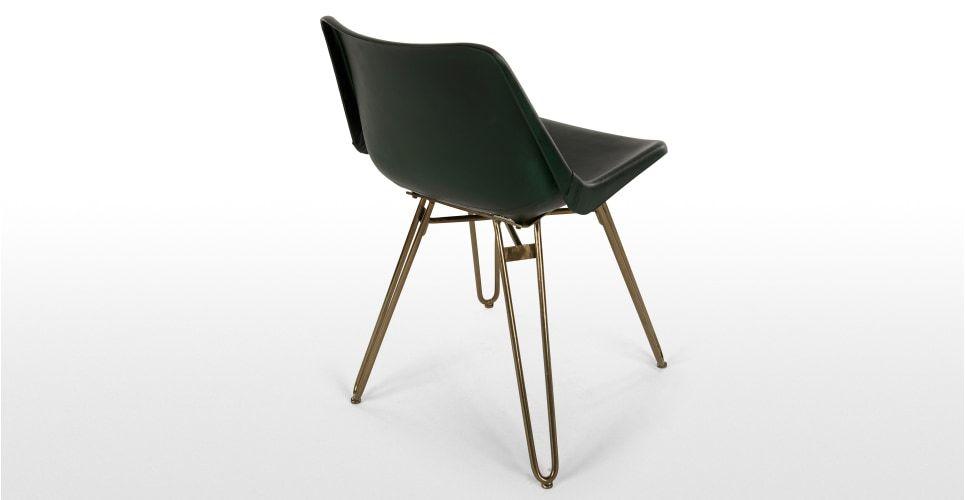 Perfekt 2 X Kendal Esszimmerstühle, Grün Und Messing