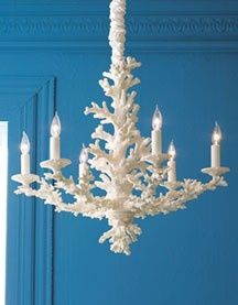 Faux white coral chandelier beach pinterest chandeliers faux white coral chandelier aloadofball Gallery