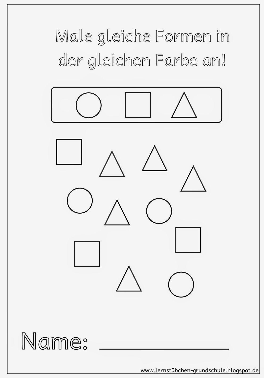 gleiche formen gleich anmalen odszukaj taki sam wz r pre school shapes und math. Black Bedroom Furniture Sets. Home Design Ideas