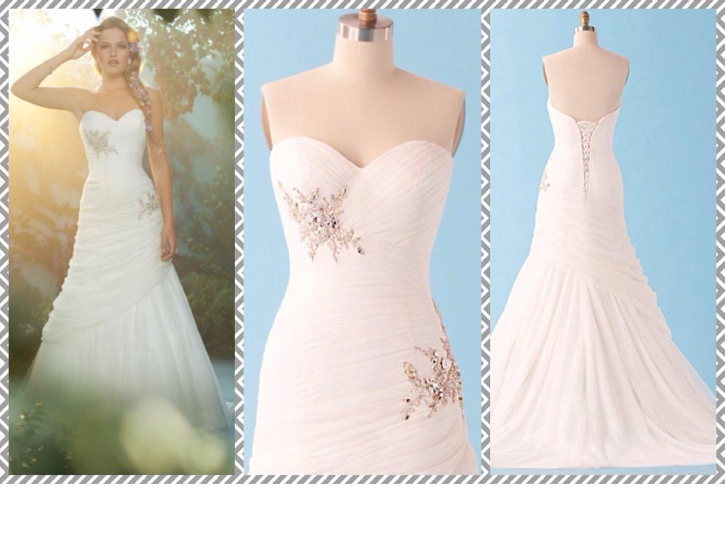 Alfred Angelo Disney Style 221, modeled after Rapunzel. | Wedding ...