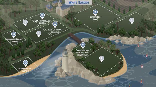 White Garden Sims 4 Fanmade Map By Filipesims Sims 4 Sims