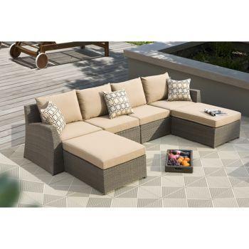 Elegant Sirio™ Hampton 6 Piece Modular Deep Seating Sectional