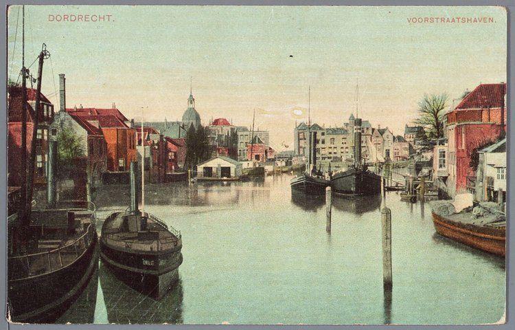 De haven van Dordrecht.