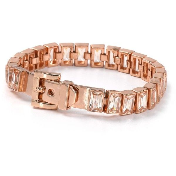 Michael Kors Rose Gold Tennis Bracelet Liked On Polyvore