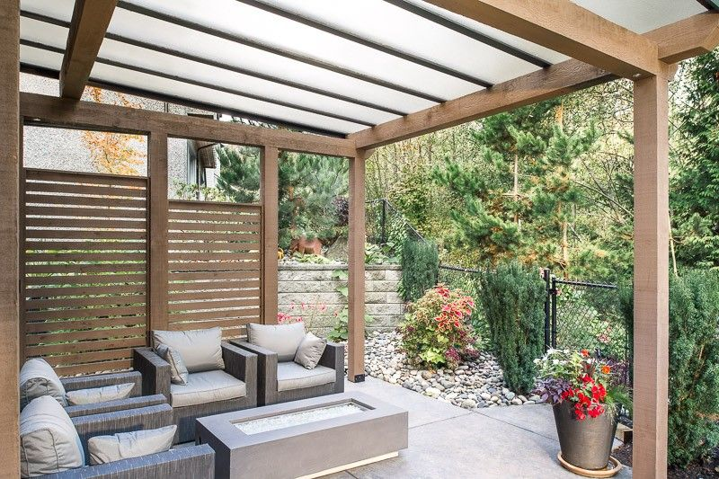 Wood And Glass Combination Patio Cover