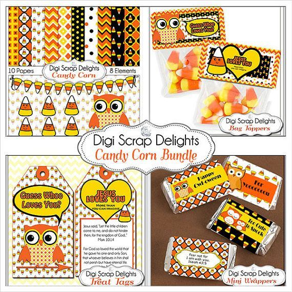 Happy Halloween Candy Corn PERSONALIZED Printable Halloween Tag