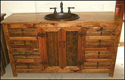 Pin By Genice Smithson On For The Home Pinterest Rustic Cabin Bathroom Rustic Bathroom Vanities Cabin Bathrooms