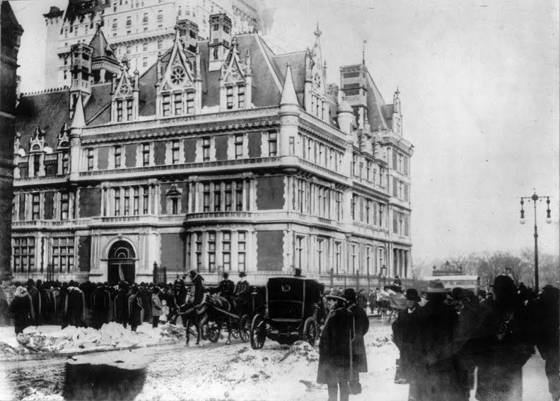 """Cornelius Vanderbilt II house, built 1893. SW corner of 57th St & 5th Ave. -- now location of @Bergdorf Goodman"""