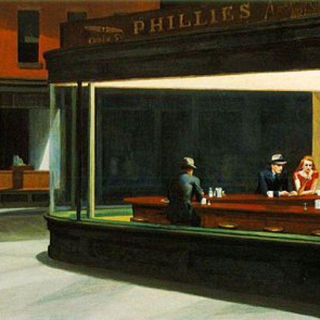Alone Togheter Oggi Hopper Avrebbe Dipinto Una Coppia Su Un Divano Con Due Ipad Edward Hopper Nighth Edward Hopper Art Institute Of Chicago Nighthawks