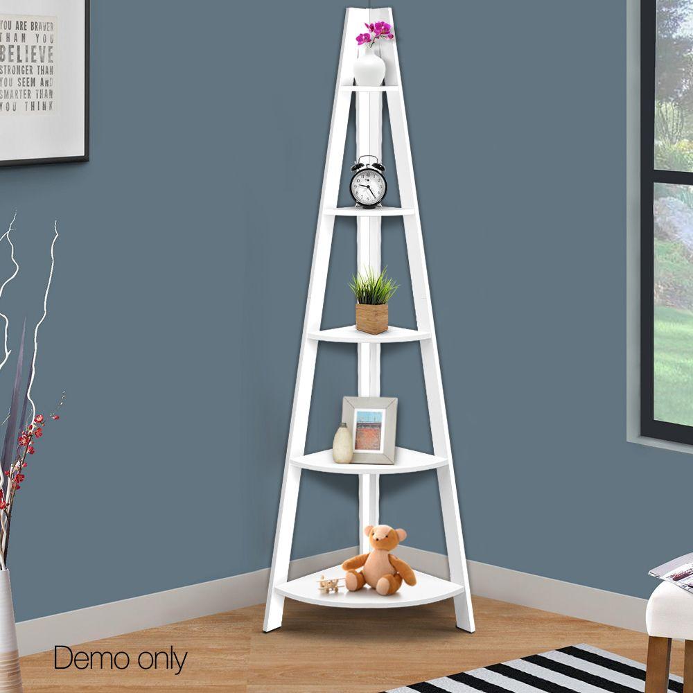 White tier corner ladder bookshelf furnitures pinterest