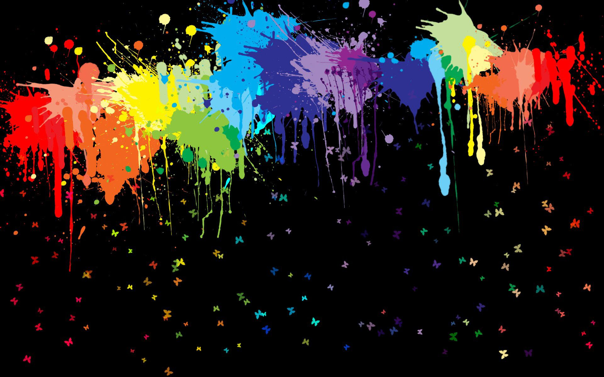 Pretty Cool Over Amazing Beautiful Laptop Wallpapers Rainbow Painting Rainbow Wallpaper Paint Splats