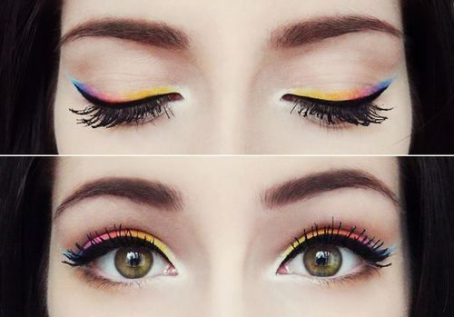 i like the idea of using colored eyeliners as a sort of eyeshadow! really cool!
