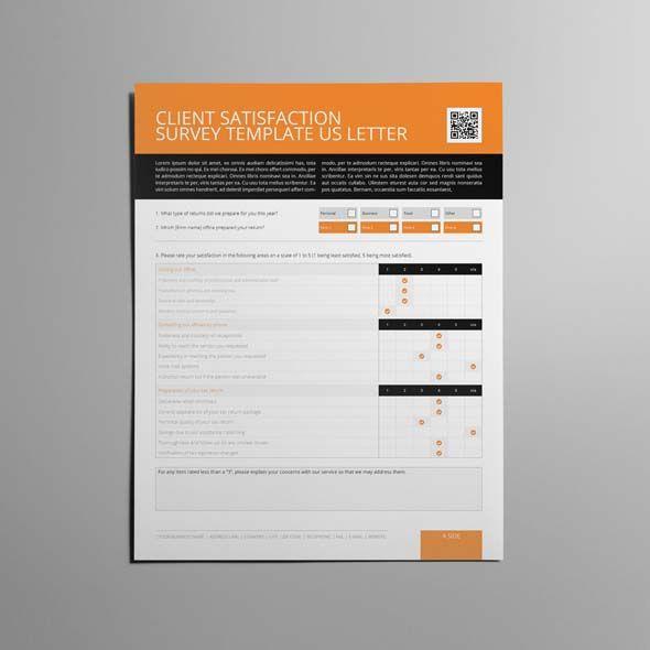 Client Satisfaction Survey Template Us Letter  Cmyk  Print Ready