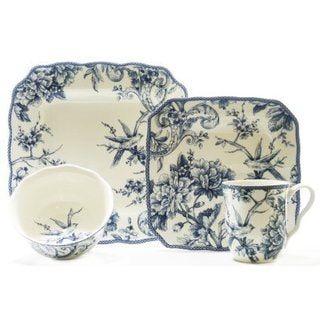 Adelaide Blue 16-piece Dinnerware Set | Overstock.com Shopping - The Best Deals  sc 1 st  Pinterest & 222 Fifth Adelaide Blue 16-piece Dinnerware Set (Adelaide Blue 16 ...