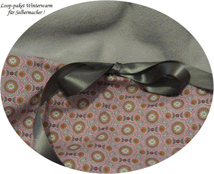 Stoffpakete - Stoffpaket♥Loop♥DIY grau-Ornamente+Schleife Winter - ein Designerstück von kreawusel-aufgehuebscht bei DaWanda