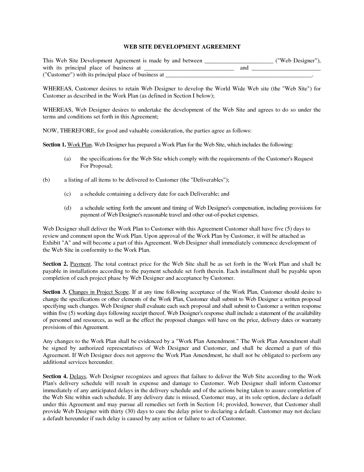 Web Development Contract by fathatdesign - web developer contract ...