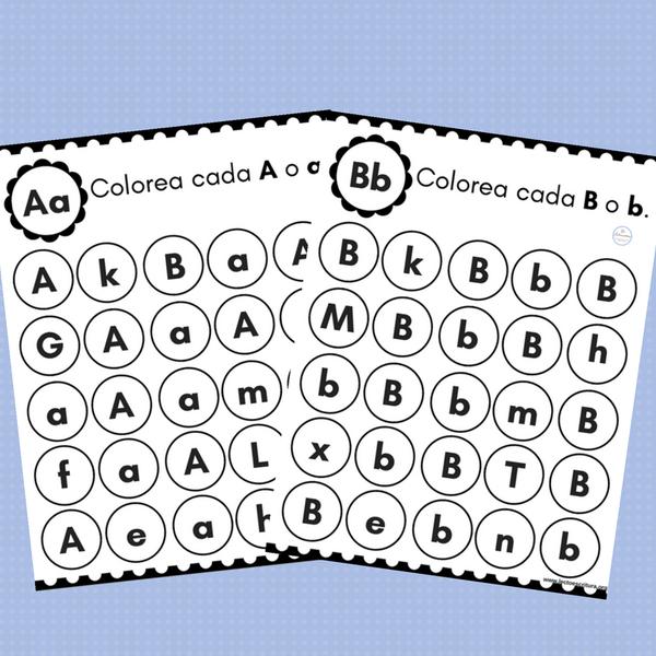 Colorea las letras del abecedario | Spanish, Elementary spanish and ...