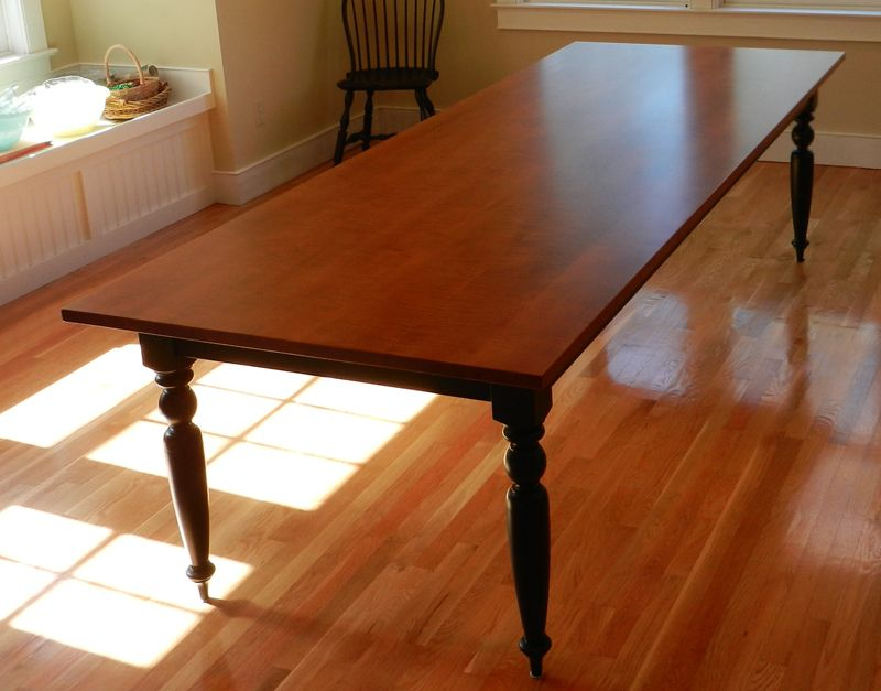 Tiger Maple French Farmhouse Dining Table  Custom Handmade In Fascinating Maple Dining Room Table Design Decoration