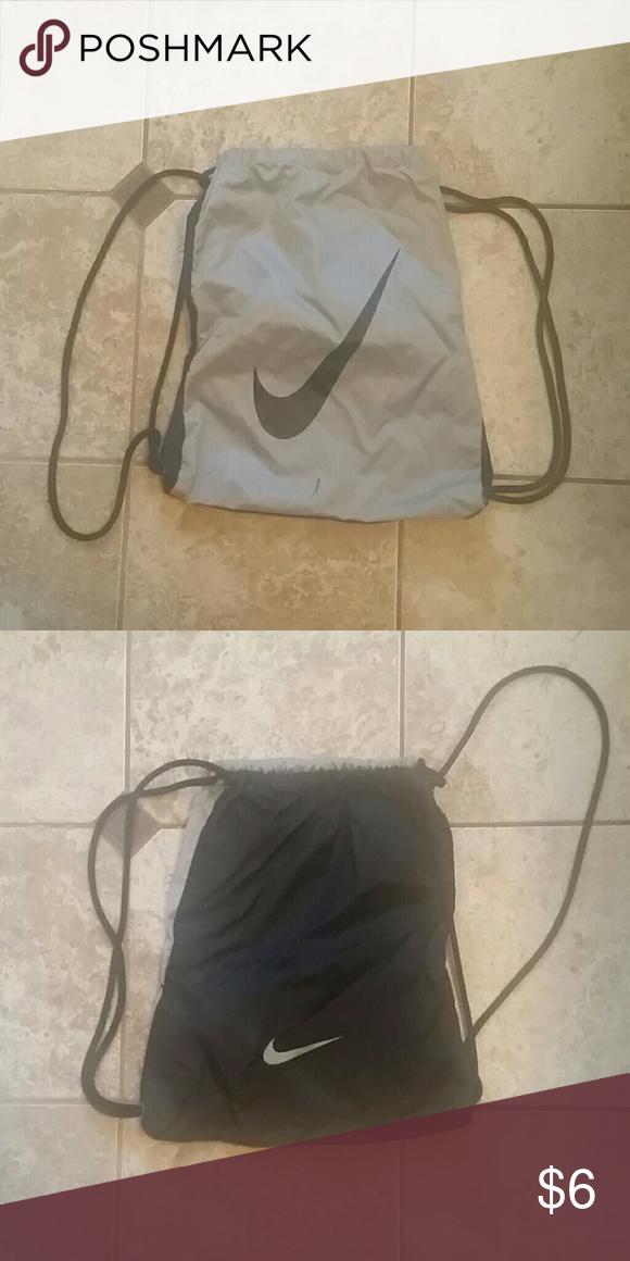 new arrival 54ea1 c7fbc Nike drawstring bag Nike black and gray drawstring bag. Lightly used. Nike  Bags