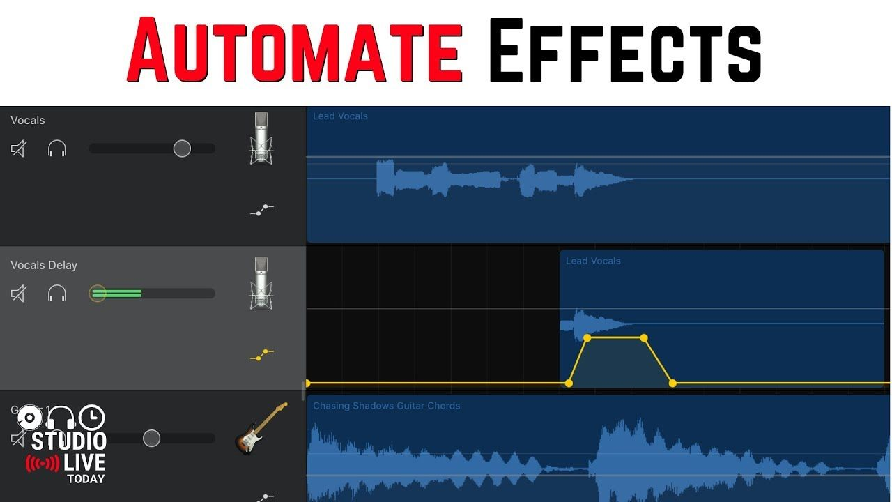 How to automate effects in GarageBand iOS (iPhone/iPad
