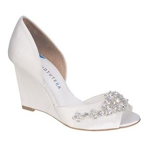 DAVID TUTERA Wedge Wedding Shoes Now At MyGlassSlipper