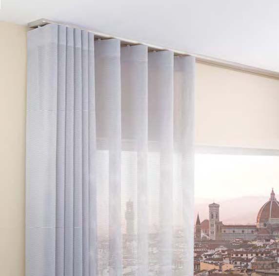 Tenda a soffitto scorrevole a binario lirico portfolio tende privati curtains sunroom - Tende a binario ikea ...